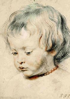 "Peter Paul Rubens Nicolaas Rubens Wearing a Coral Necklace ca. 1619 ""Peter Paul Rubens The Drawings"" Metropolitan Museum of Art Peter Paul Rubens, Trois Crayons, Pedro Pablo Rubens, Portraits, Art Graphique, Renaissance Art, Painting & Drawing, Boy Drawing, Art History"