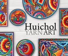 Huichol Yarn Paintings & Art for Sale - Mexican Yarn Art Yarn Painting, Mandala Painting, Painting Art, School Art Projects, Middle School Art, Mexican Folk Art, Yarn Projects, Art Lesson Plans, Art Classroom