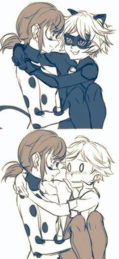 Ladybug et Adrien/Chatnoir
