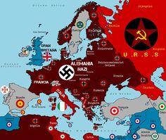 2. světová válka nacistické Německo mapa plakát