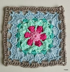 Crochet Mood Blanket, love the color combination