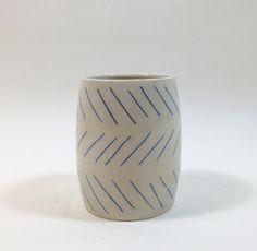 Small Spells - Rachel Howe - Blue Zigzag 3 Lines Cup  smallspells.com/shop/