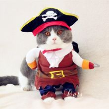 Pirate of the Caribbean Small Pet Dog Cat Costume Cosplay Outfit Christmas Gift #HP3401(China (Mainland))