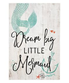 Sincere Surroundings Whitewash Little Mermaid Wall Sign | zulily