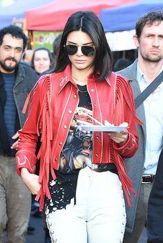 Kendall Nicole Jenner Fashion Style — February 18, 2017 -  At Portobello Road Market in...