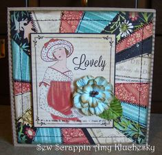 Stitched Graphic 45 Couture Card by Amy Kluchesky