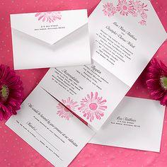 34 best seal send wedding invitations images on pinterest fuchsia daisy seal n send filmwisefo