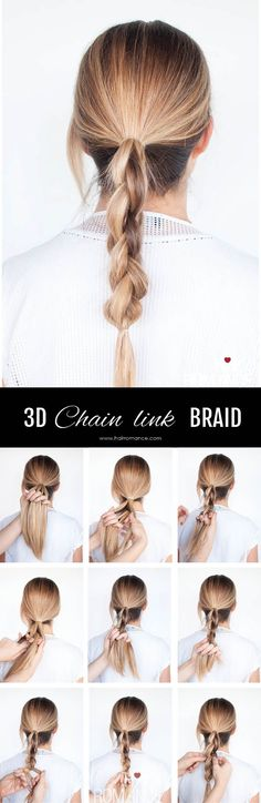 Hair Romance - DKNY inspired 3D chain link braid - click through for full tutorial & video