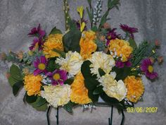 Remembering Our Loved Ones...With Fountain-Lake Creations. Hand Made Headstone Saddles For Sale And Also Custom Made To Your Specifications. You Choose Your Colors & Style. Order Yours Today. $25.00