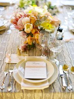 Wedding Ideas: fall-wedding-place-setting-brown