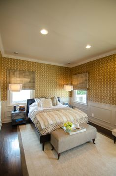 We love the use of unique lighting in this bedroom. What do you think? #DreamBuilders