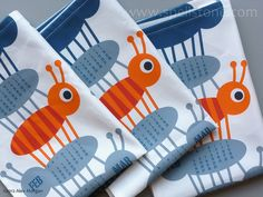 Sweet 'Baby Jack' tea towel calendar by Spellstone printed on Spoonflower's linen cotton canvas
