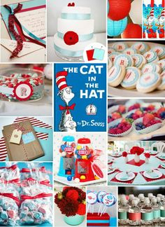 Daily Update Interior House Design: Dr. Seuss Inspiration Boards for Baby's 1st Birthday!  Dr.seuss birthday and baby shower party ideas and inspiration