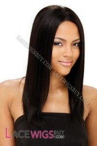 """16"""" Silky Straight #1B Full Lace Wigs 100% Indian Remy Human Hair"""