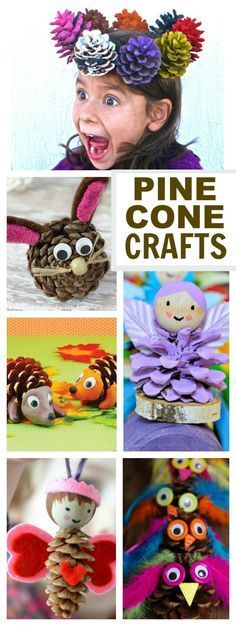 16 AWESOME KIDS CRAFTS USING PINE CONES. Who knew there were so many neat ways to use them?!