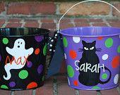 Halloween Bucket - Personalized