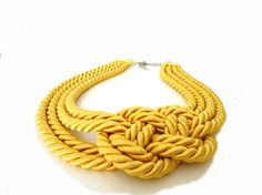 Summer Fashion Yellow Nautical Sailor's Knot Rope by ChichiKnots, $25.00