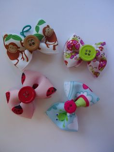 Critters Topknot Bows for Dogs on Etsy