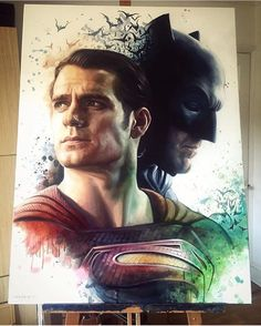 Today is the release here in Australia! Who else is super excited for ' Dawn of Justice' !? Throwback to this amazing piece.   Done by @benjefferyartist  _  Check out our 2nd page @cre8hype2  Tag someone who would love this.  Keep tagging #cre8hype for a feat!  _  Shared by - @coreymayne  _    #prints #printable #painting #canvas #empireprints #teepeat