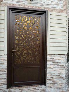 Good Solid Advice About Woodworking That Anyone Can Use Door Gate Design, Main Door Design, Wooden Glass Door, Wooden Doors, Metal Gates, Modern Front Door, Steel Doors, Entry Doors, Gate Ideas