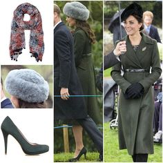 Kate recycled her $1800 Sportsmax coat that she first worn on 2015 Christmas day and in February 2016 when she went to Edinburgh.  She paired it with a new £110 L.K. Bennett Sammi Blue Silk Scarf, £400 Emmy Shoes Valerie Carbon, and still unidentified grey fur hat.  She chose good pairs and i love the hat! Something new in 2017