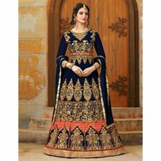 Fashion Forever, Anarkali, Dresses With Sleeves, Suits, Long Sleeve, Stuff To Buy, Blue, Shopping, Sleeve Dresses