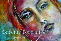 2015 WORKSHOP with Jodi Ohl - Students of Extreme Portraits will learn about using grayscale painting, glazing, & applying mixed media applications into their portrait work through a variety of exercises that will build up to our main projects, a portrait in color and a self-portrait using your own photography.  Lush rich background work, creating quick studies in pencil, charcoal, and pastel will also be touched upon. $230. for 2 full days.