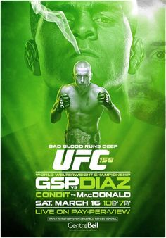 UFC 158 'GSP vs Diaz' Rumors and Full Fight Card for March 16 in Montreal    Bad Ass Poster!