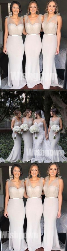 Charming Sexy Mermaid Elegant Inexpensive Wedding Bridesmaid Dresses, WG473