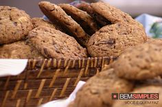 Cookie de chocolate, por Bruna Di Tullio. http://www.bemsimples.com/br/receitas/93628-cookie-de-chocolate