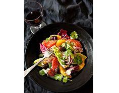 Frisk sitrussalat med mange gode smaker, perfekt som forrett