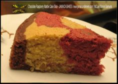 Chocolate Raspberry Marble Cake Slice  - JAMAICA BAKES - http://jamaicandinners.com JAMAICA DINNERS - MiQuel Marvin Samuels http://jamaicandinners.com/