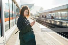 View top-quality stock photos of Young Woman Checking Smartphone On The Train Platform. Find premium, high-resolution stock photography at Getty Images. 20 Weeks Pregnant, Train Platform, Train Companies, Baby Yoga, Parenting Classes, First Daughter, Mamas And Papas, Traveling With Baby, Free Baby Stuff