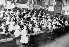 it is mostly common that children growing up during the industrial revolution that were in the middle class never had to work in factories, instead, they got to attend school. The schools also had some elements of factory production. Old School House, Make School, School Days, School Stuff, Old Pictures, Old Photos, Vintage Photographs, Vintage Photos, Victorian Life