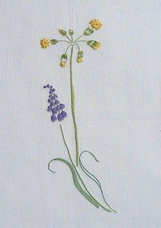 Field flowers alphabet - I | The French Needle | French Needlework Kits, Cross Stitch, Embroidery, Sophie Digard