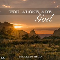 Psalm 86 is a beautiful prayer of King David highlighting the great and steadfast love of our Savior, Jesus Christ. And just like yesterday's passage, it reminds us that there is no one or nothing He can be compared to.   For You are great and do wondrous things; You alone are God. Psalms 86:10