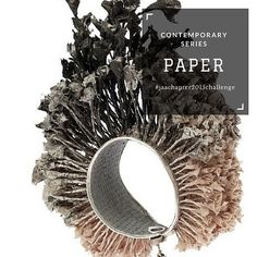 #contemporaryseries  Paper Created from layers of a fibrous material, paper can bring colour, rich textures, delicate edging and light weight to jewellery. Risk of tearing, water-damage and fading can be reduced with use of a coating.  #paper #jeweller #jewellery #ring #bracelet #bangle #necklace #chain #pendant #earrings #brooch  #jaachapter2015challenge #page339of365  Image: Sivan Alon, paper