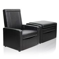GAMING CHAIR/OTTOMAN- Available at Walmart      Ottoman folds out to a gaming chair     Storage under the seat cushion     Leather-like uppolstery  Product dimensions:                    20.3in W x 25.6in D x 17.7in H 65cm W x 51.5cm D x 45.0cm H