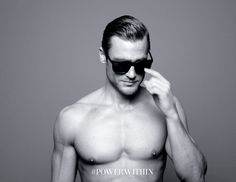 hot hello sunglasses shirtless flirting eyebrow raise acqua di gio power within