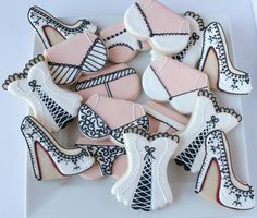 Boudoir Themed Decorated Cookies, Lingerie Decorated Cookies, Bachelorette Cookies, Sexy Cookies