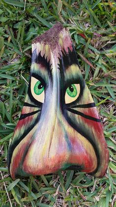 One of a kind-Rasta Tiki Face-Florida Art-Palm by FloridaMermaids