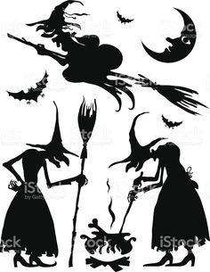 Ensemble des sorcières stock vecteur libres de droits libre de droits