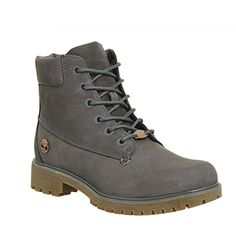 Timberland Slim Premium 6 Inch Boots Eiffel Tower Grey Nubuck - Ankle Boots