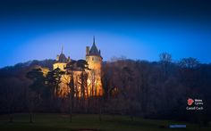 October 2012 - Castell Coch illuminated at night time, near Cardiff, South East Wales