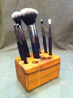 985cd76ef13 Hand crafted Cypress wood makeup brush by WoodenTreasureTrove