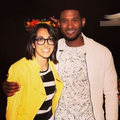 Usher and Michelle from the VOICE!