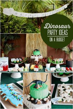Our first entry in our Boy Bash on a Budget Challenge - a dinosaur party from Allison of Cupcake Couture!