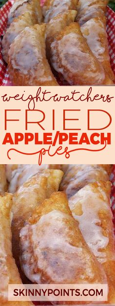 FRIED APPLE or PEACH PIES - Weight Watchers FreeStyle Smart Points Friendly