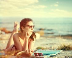 Moment of reflection Cosmopolitan, Woman Reading, Pilot, Sunglasses Women, In This Moment, Couple Photos, Beach, Reflection, Books