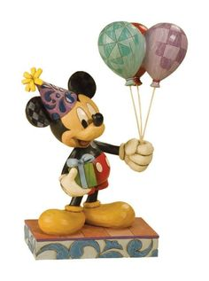US$ 67 - Disney Traditions by Jim Shore 4013255 Mickey Mouse Birthday Celebration Figurine 8-3/4-Inch